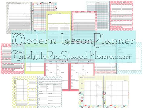 free printable homeschool teacher planner modern lesson planner