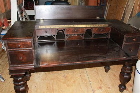 antique desk with piano desk for sale antiques com classifieds