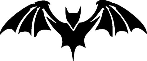 bat stencil tag body art