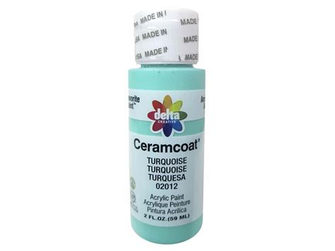 ceramcoat acrylic paint by delta 2 oz 2012 turquoise