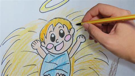 imagenes faciles del nacimiento de jesus como dibujar al ni 209 o jesus en el pesebre paso a paso