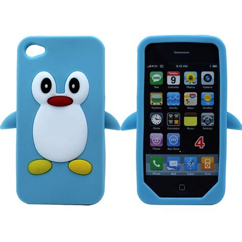 Sale Hoco Light Silicon Soft For Iphone 5 5s Se Ultra Thin 3d penguin soft silicone rubber cover for apple iphone 4g 4s ebay