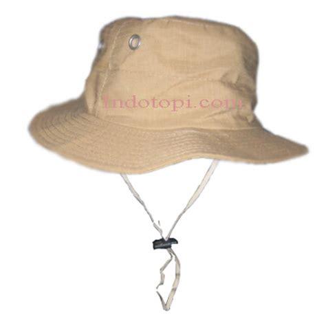Topi Rimba Jaring Coklat Tua grosir topi murah buat topi pesan topi dan desain topi