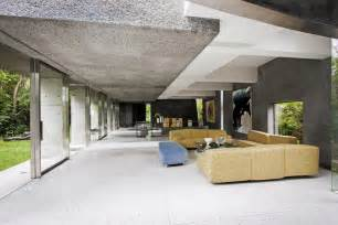 Full imagas ceiling wall house of concrete construction with yellow