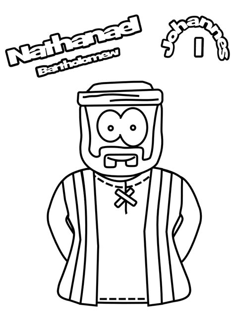 jesus nathanael coloring page nathanael john 1 heroes jesus without language