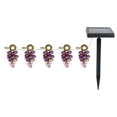 mini grape black solar led string lights gx 5025 5pk the