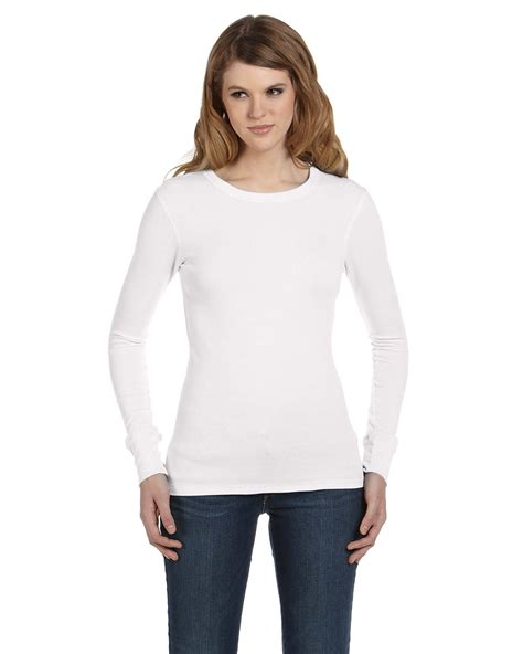 long sleeve thermal shirts for women bella canvas b8500 women s thermal long sleeve tee shirtmax