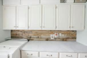 wood kitchen backsplash plank backsplash cottage laundry room tiek built homes