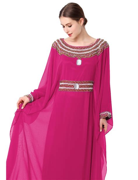 Muslim Dresses With Embroidery | women embroidery long sleeve muslim arabic dress turkish
