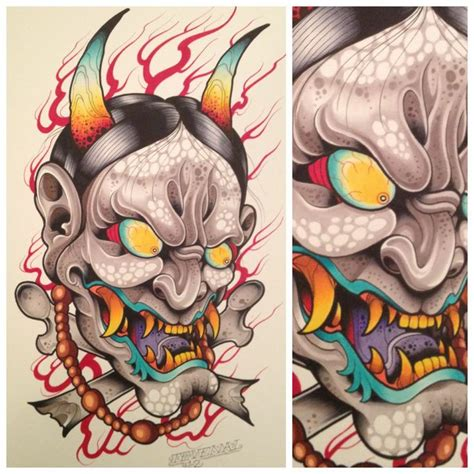 small hannya mask tattoo 341 best hannya mask images on pinterest japan tattoo