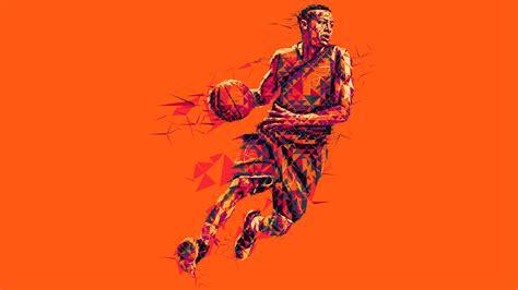 wallpaper 4k basketball wallpaper basketball player low poly mosaic art 4k 8k