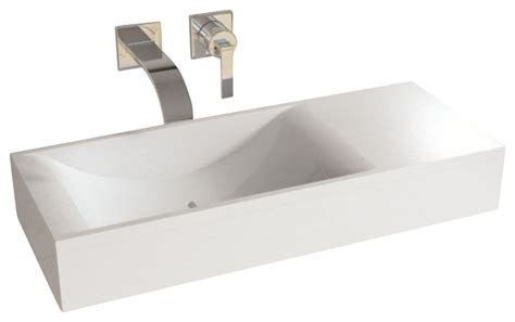 contemporary bathroom sinks adm white countertop solid surface sink matte