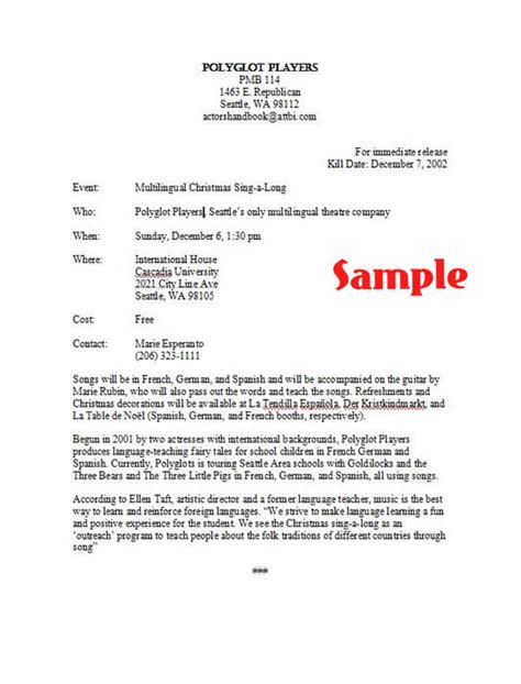 how to write a press release template 28 images best