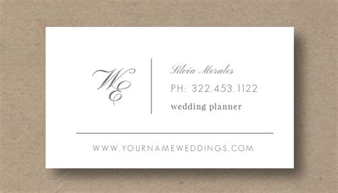 wedding business card template business card template for wedding planners eucalyptus