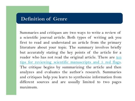 how to write a critique of a scientific paper how to review a scientific journal article writing