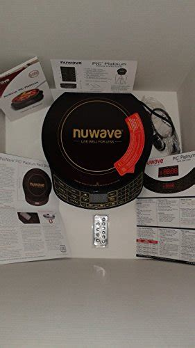 nuwave platinum  precision induction cooktop black