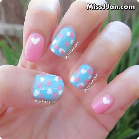 tutorial nail art pakai air missjjan s beauty blog love is in the air nails