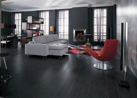 Black Hardwood Flooring As An Excellent Combination Of