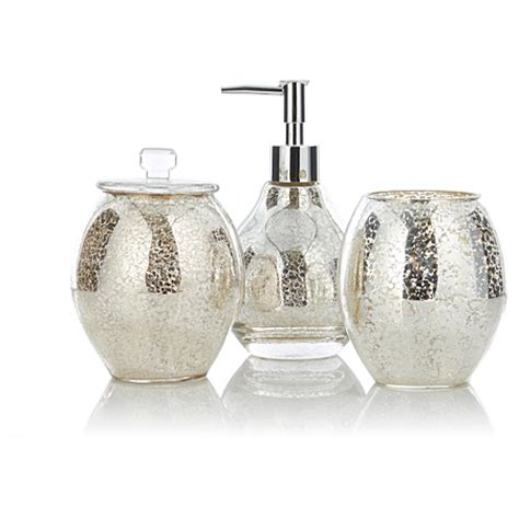 bathroom glass accessories george home accessories mercury glass bathroom accessories asda direct
