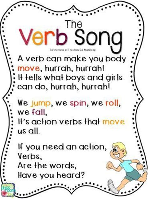 pattern of speech synonym the verb song to the tune of the ants go marching