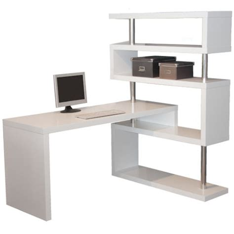 desk with bookcase attached l shape desk matt white
