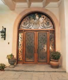 Front Doors With Wrought Iron Doors Exterior Wrought Iron The Interior Design Inspiration Board