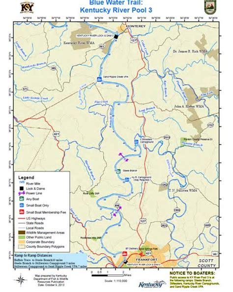 kentucky map with rivers kentucky department of fish wildlife kentucky river pool 3