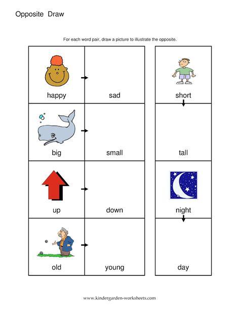 printable worksheets opposites kindergarten opposite worksheet for kindergarten opposites worksheets