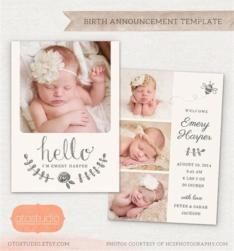 baby boy birth announcements templates 128 best images about card templates digital frames on