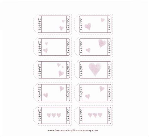 black and white printable love coupons blank love coupons template journalingsage com