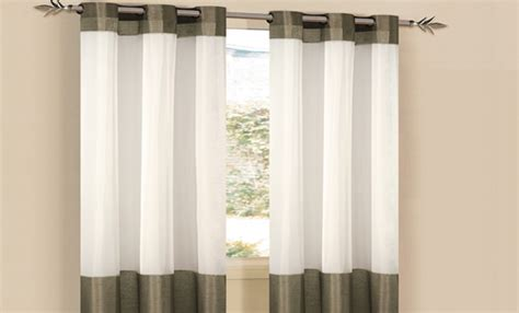 modern grommet style sheer panels yelp duck river textile window panel sets