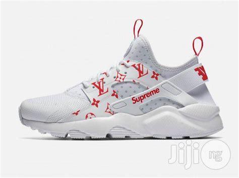 Sale Lv Flat Shoes 2326 Seprem lv x supreme x nike air huarache ultra white for sale