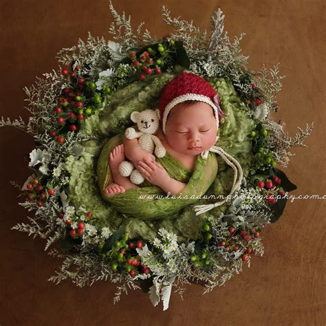 newborns wearing knitted christmas outfits  fill  heart  cheer