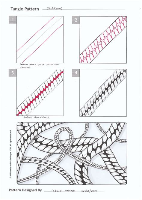 doodle name step by step links to tangle patterns snaking and yagi zentangle