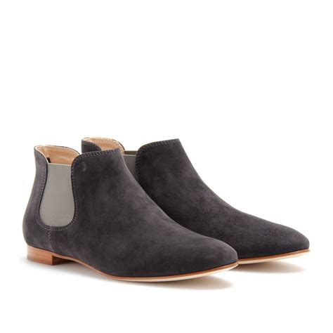 Sepatu Toods Denim Boot lyst tod s suede chelsea boots in blue