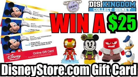 How Much Are Disney Gift Cards At Sam S Club - 25 disneystore com online gift card giveaway diskingdom com disney marvel