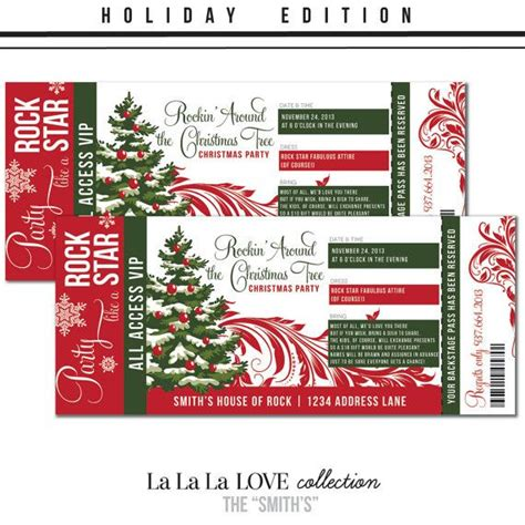 printable custom tickets free printable custom holiday concert ticket christmas party