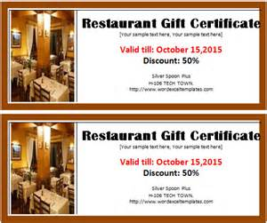 restaurant gift certificate template free restaurant gift certificate template word excel templates