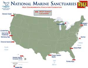 florida national marine sanctuary map reef and the national marine sanctuaries reef