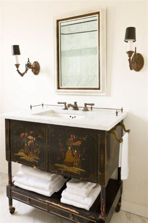 repurposed bathroom cabinet chinoiserie asian oriental cabinet repurposed as a