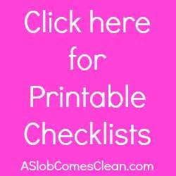 how to clean a messy house step by step printable checklist for how to clean a messy house