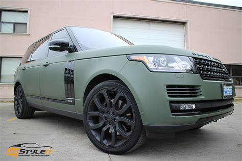 matte green range rover range rover size exterior makeover vehicle