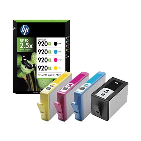 Tinta Hp 920xl Yellow hp 920xl 4 pack high yield black cyan magenta yellow