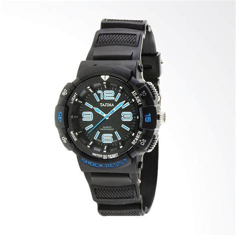 Harga Jam Tangan Tajima Quartz jual tajima analog rubber jam tangan pria biru