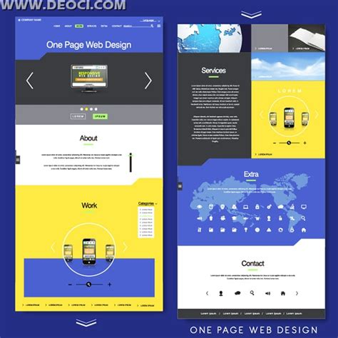 eps format web vector blue company metro single page website template