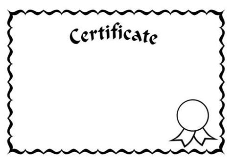 pages template certificate certificates coloring