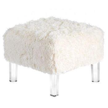 white fur ottoman target faux tibetan lamb white pouf