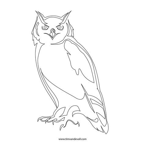 printable outline of an owl owl stencil printable coloring home