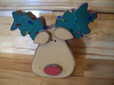 Handmade Reindeer - handmade wood reindeer deer with lights for