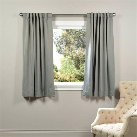Grey Blackout Curtains Exclusive Fabrics Furnishings Neutral Grey Blackout Curtain 50 In W X 63 In L Pair Boch